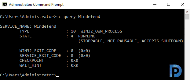 uninstall Windows Defender