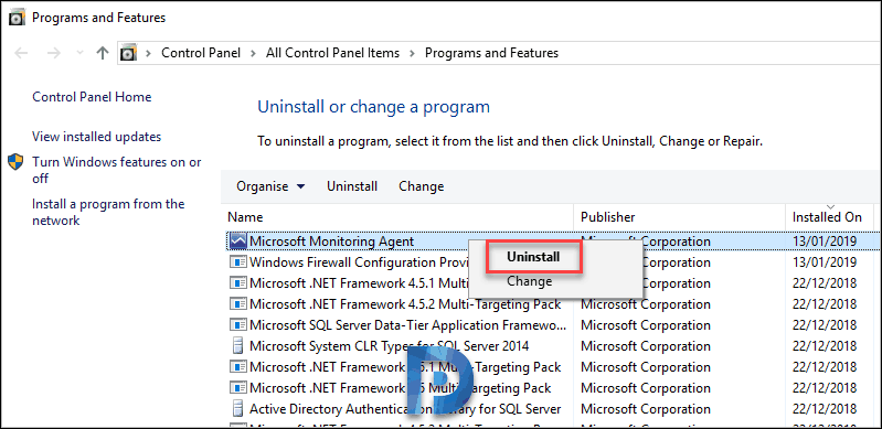Uninstall SCOM agent using multiple methods