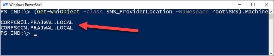 SMS_ProviderLocation PowerShell Command