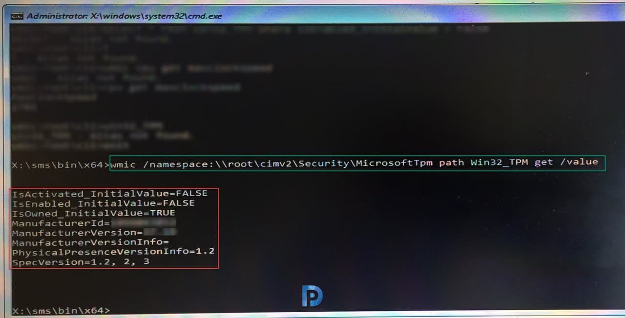Check TPM Status from Command Line