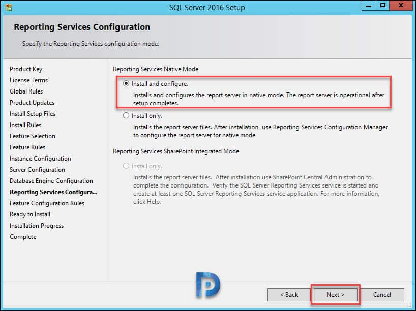 Install SQL Server for operations manager1801