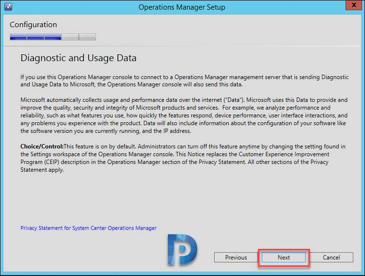 Operations Manager 1801 install guide