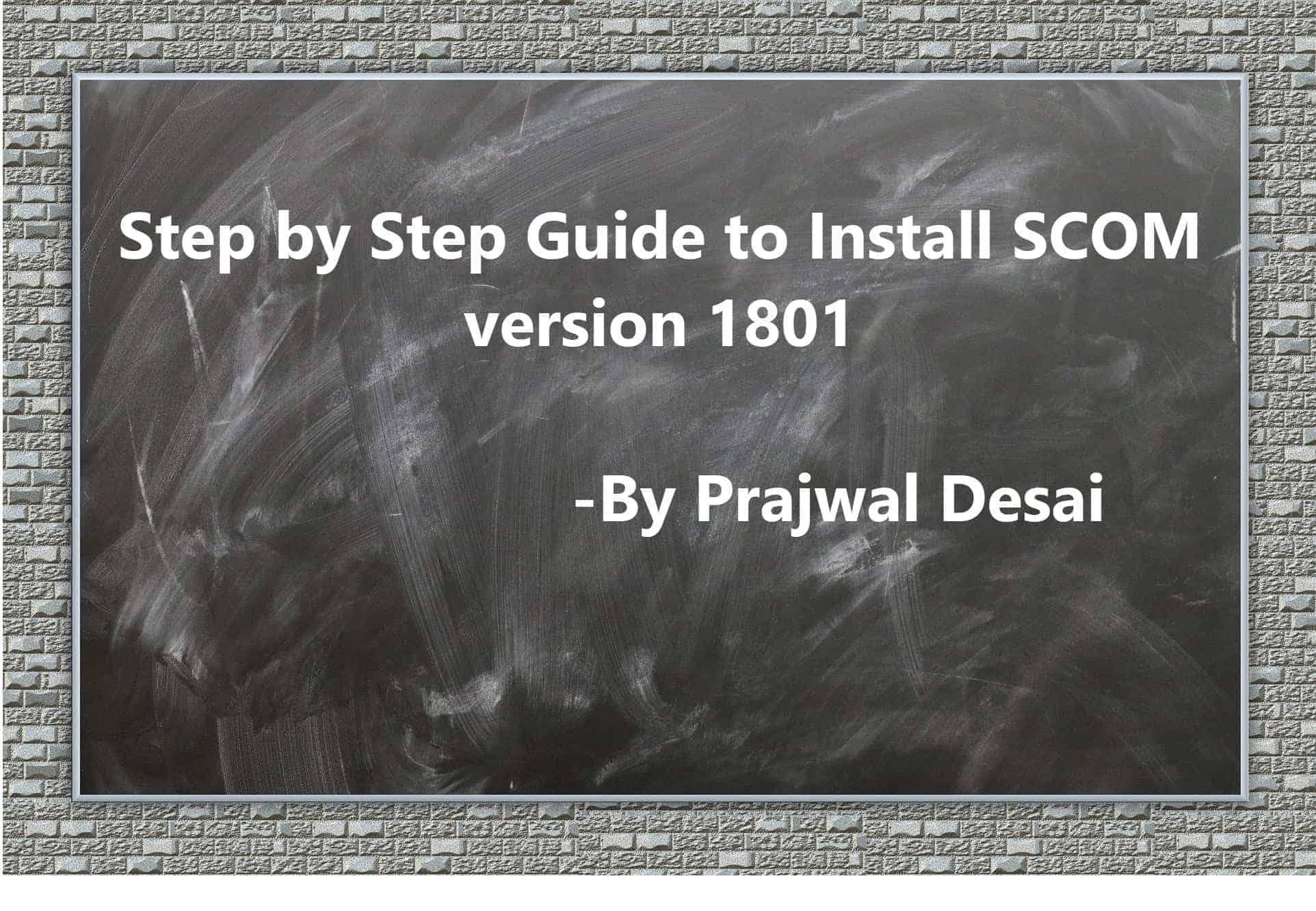 SCOM version1801 insall ftimg