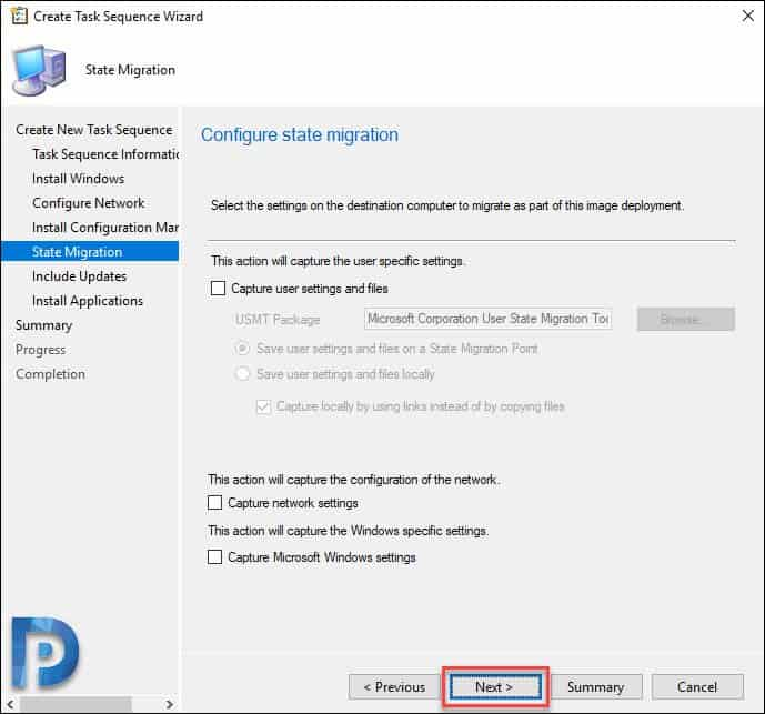 Windows Server 2019 Task Sequence