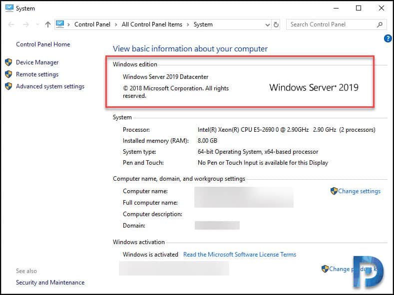 in-place Windows Server 2019 upgrade