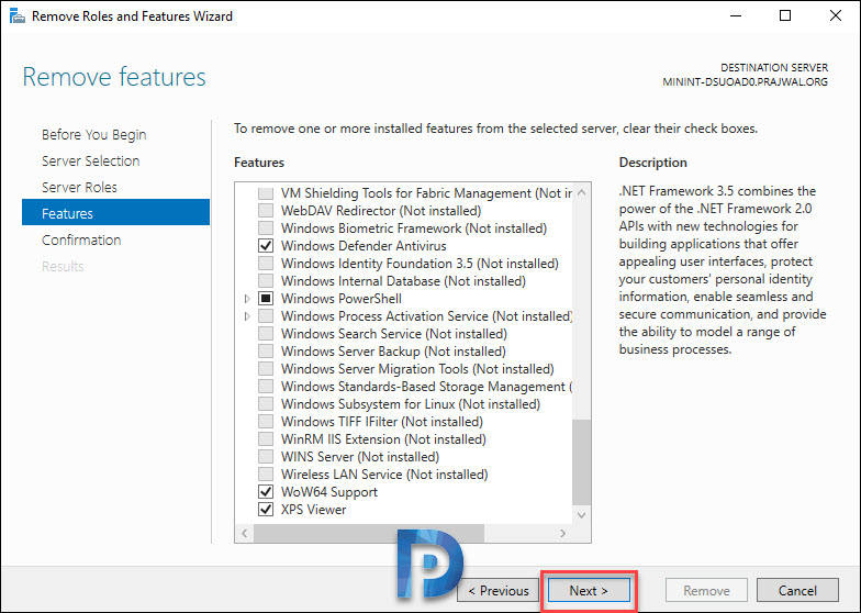 Remove or Uninstall Windows Deployment Services