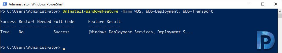 remove wds using powershell