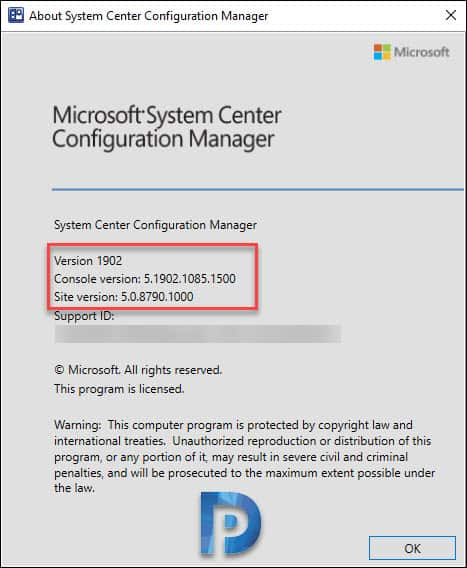 Configuration Manager 1902 site