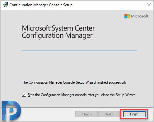 SCCM console installed