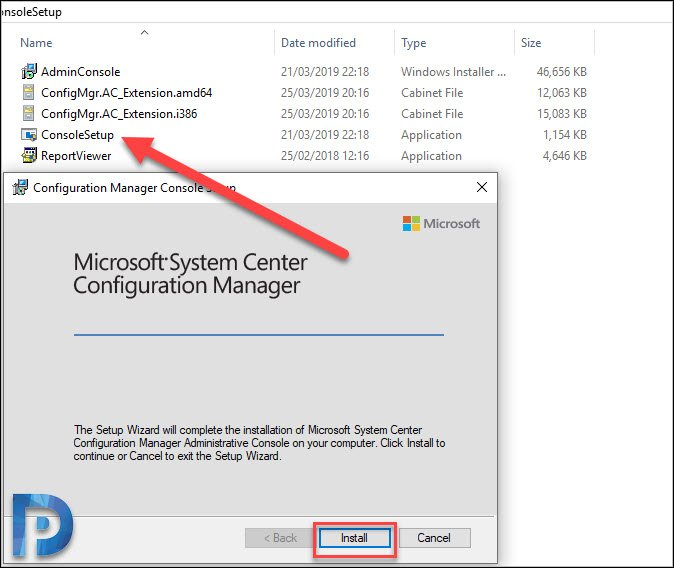 Manually install SCCM console