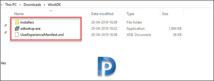 Windows ADK installer