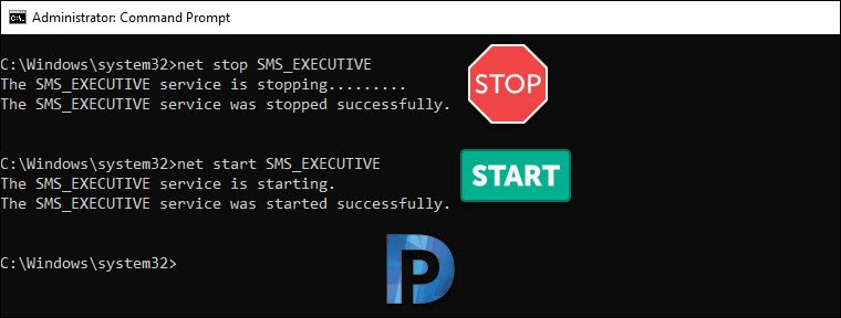Ways to Restart SCCM SMS_EXECUTIVE Service (SMS_EXEC Service