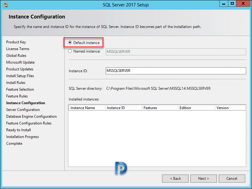 SQL Server 2017 Install