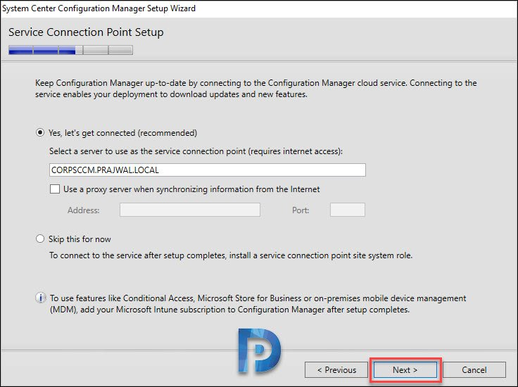 Configuration Manager 1902 Setup