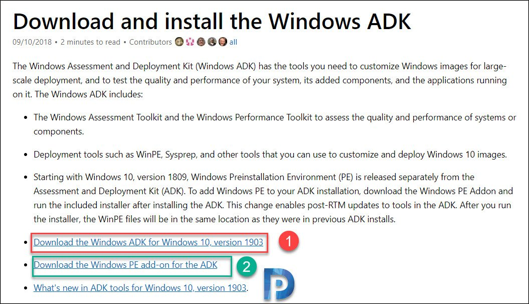 download adk and winpe addon