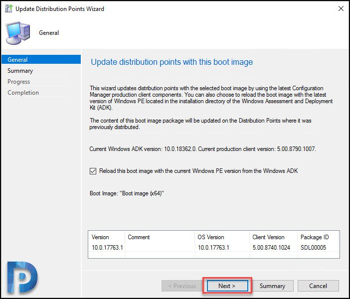 update SCCM boot images