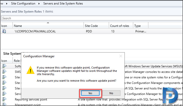 How to Remove Software Update Point Role in SCCM