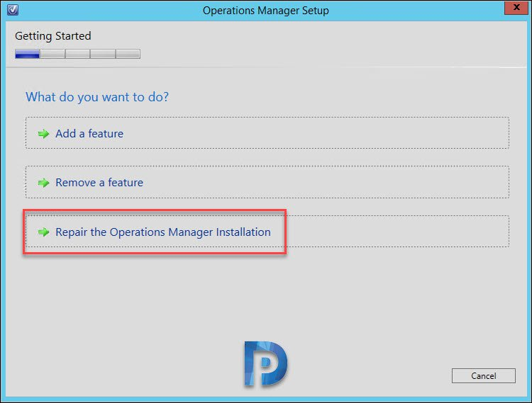 How to Repair Operations Manager Installation