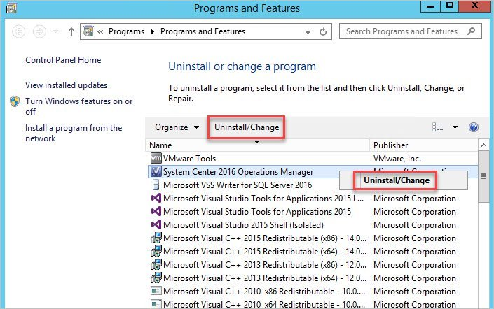 How to Uninstall Operations Manager SCOM