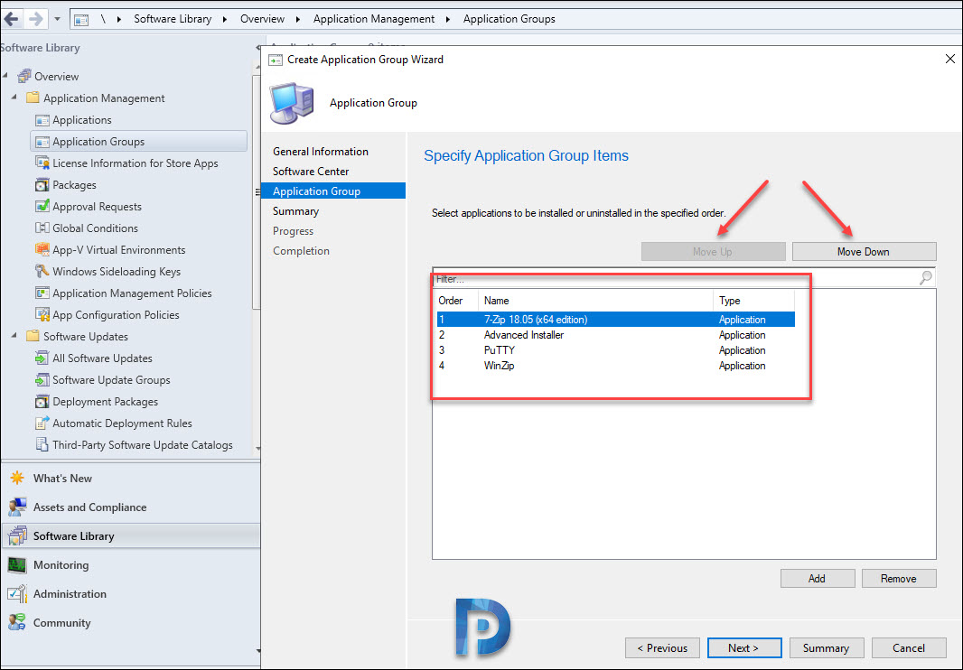 Create Application Groups