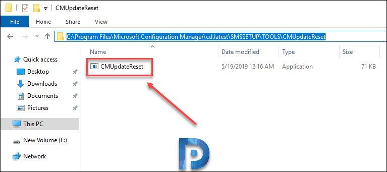 SCCM Update Reset Tool Snap1