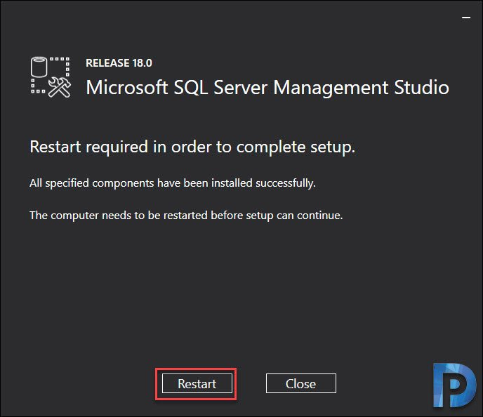 Install Microsoft SQL Server Management Studio