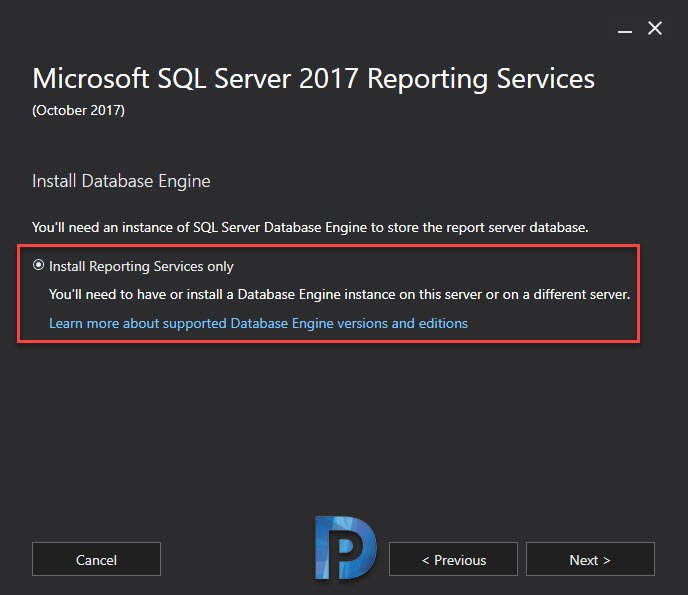 Install Microsoft SQL Server 2017 Reporting Services