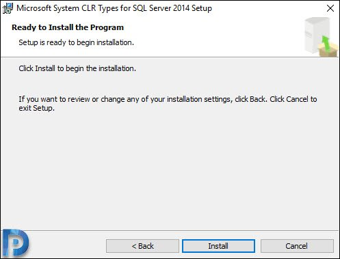 Install Microsoft System CLR Types for SQL Server 2014