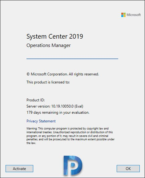 SCOM 2019 Version Check