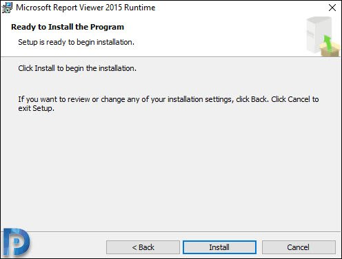 Install Microsoft Report Viewer 2015 Runtime