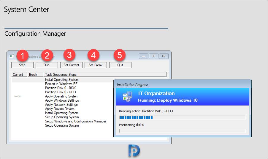 SCCM Task sequence debugger