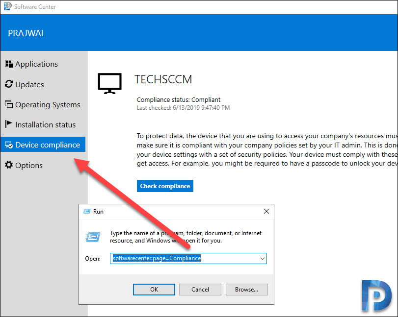 Direct link to custom tabs in Software Center