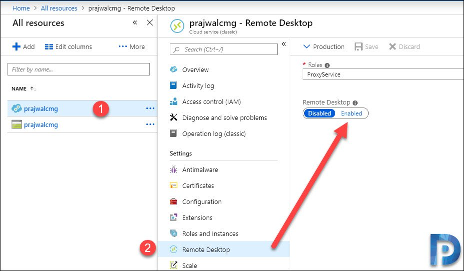 How to Enable Remote Desktop on SCCM CMG Snap1
