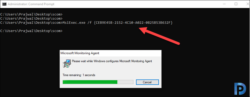 Repair SCOM agents using MOMAgent.msi command line