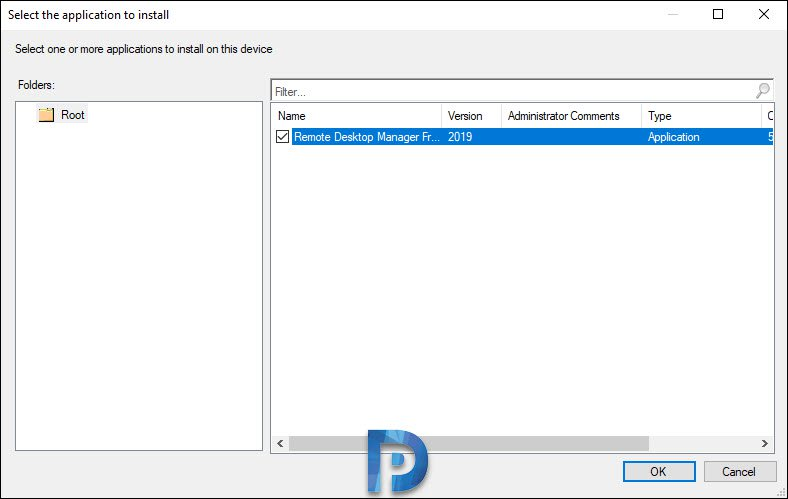 Install applications for device in SCCM 1906