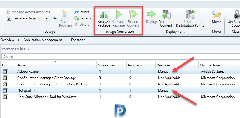 Analyze packages using PCM