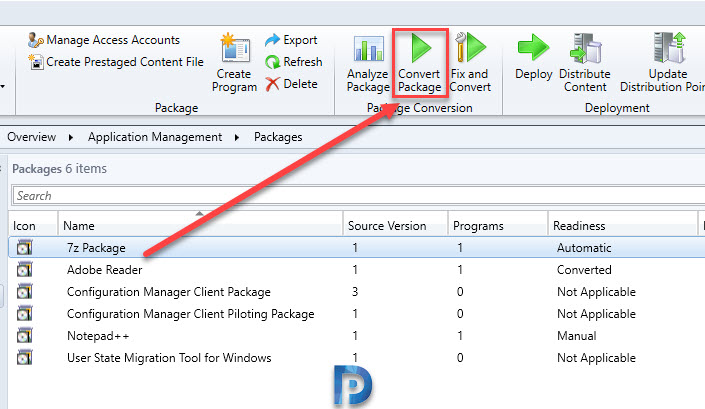 Convert Packages using Package Conversion Manager