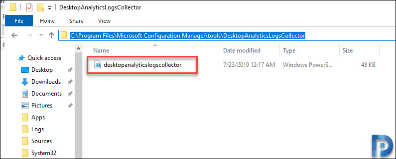 SCCM 1906 Feature - Desktop Analytics- DALogsCollector tool