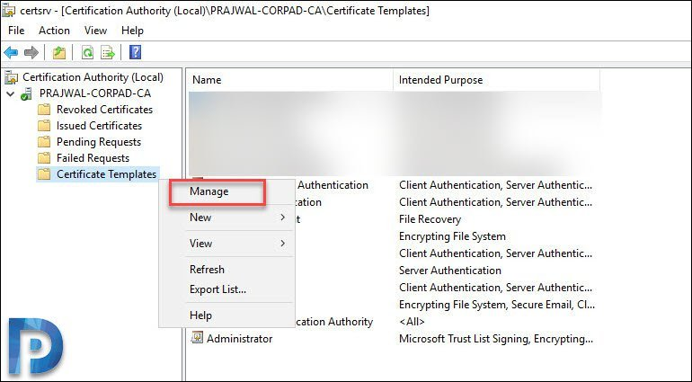 Create and Issue Web Server CMG Certificate Template