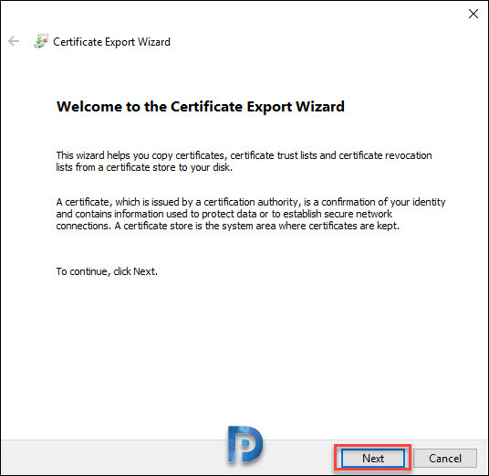 Export SCCM CMG Certificate