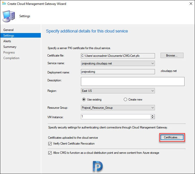 Setup SCCM Cloud Management Gateway