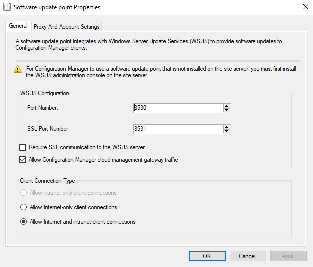 Allow Configuration Manager Cloud Management Gateway traffic