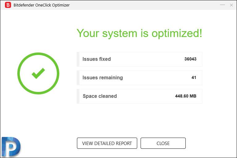Bitdefender Oneclick Optimizer