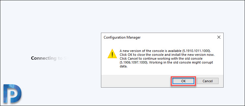 ConfigMgr Technical Preview 1908 Console Upgrade