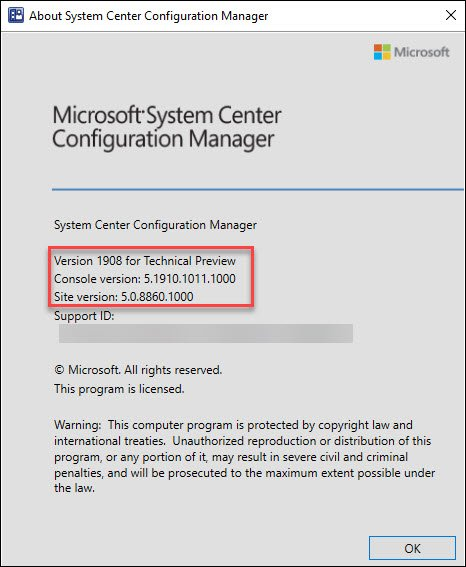 ConfigMgr Technical Preview 1908