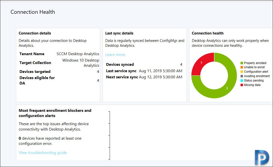 Desktop Analytics Connection Health Dashboard