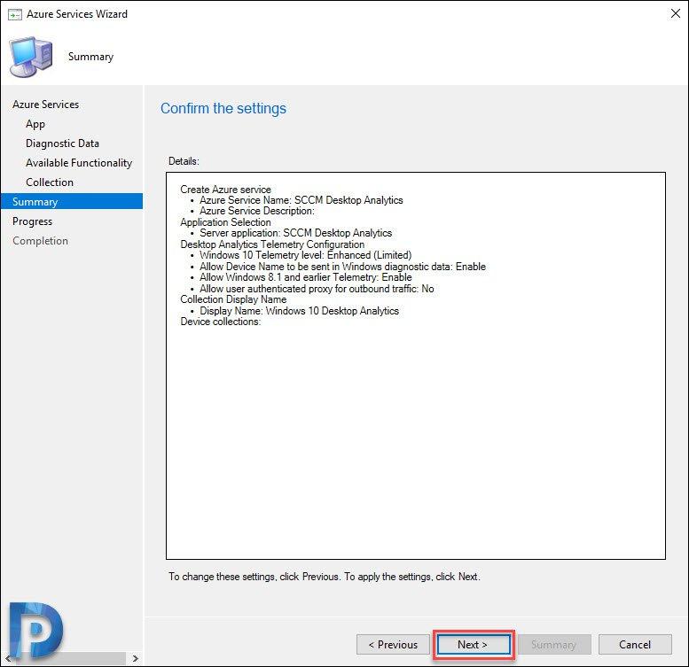 Setup SCCM Desktop Analytics & Connect SCCM with Desktop Analytics
