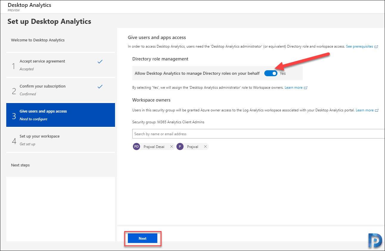Connect SCCM with Desktop Analytics