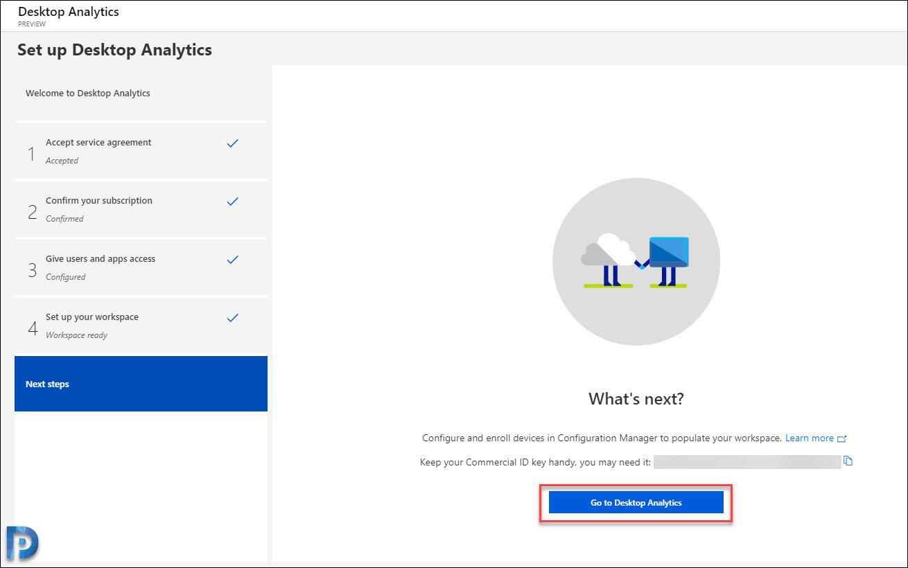 Set up Desktop Analytics in the Azure portal