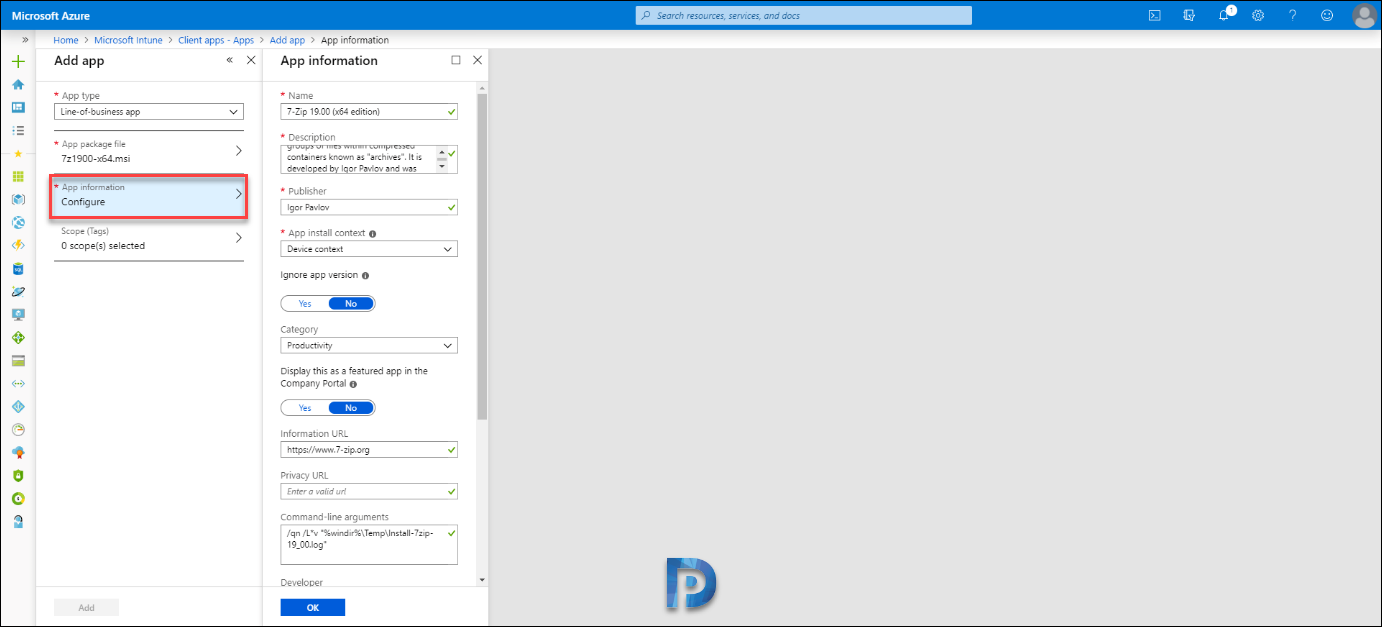 Intune MSI Application Deployment – Prajwal Desai